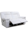 Indulge Leather Electric Two Seater Sofa Recliner in White Colour by Hometown