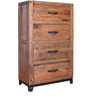 Industrial Style Chest Of Drawers in Brown Colour by Asian Arts