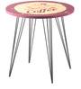 Infiniti Round Corner Table in Black Colour by Nilkamal