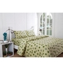 Inhouse by Maspar Circle in Circle Print Green 1 Double Bedsheet with 2 Pillow Cover