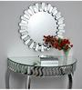 Elbow Decorative Mirror in Silver by Bohemiana