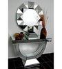 Duffy Decorative Mirror in Silver by Bohemiana
