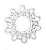 Delgados Decorative Mirror in Silver by Bohemiana