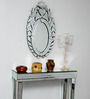 Bromley Decorative Mirror in Silver by Amberville
