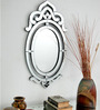 Arnot Decorative Mirror in Silver by Amberville