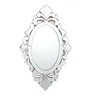 Carlisle Decorative Mirror in Silver by Amberville