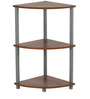 Iowa Wooden Corner Rack in Teak Colour by Nilkamal