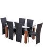 Iris Dining Set Six Seater by Royal Oak