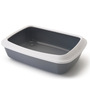 ABK Imports Iriz Cat Litter Tray & Rim, Cold Grey, 17 inch