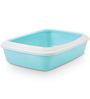ABK Imports Iriz Cat Litter Tray & Rim, Retro Blue, 17 inch