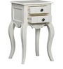 Isabella End Table with Two Drawers in Paris White Finish by Amberville