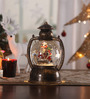 Itiha Multicolour Acrylic Christmas Battery Operated Led Snow Globe Lantern Table Lamp with Snowman Set