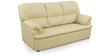 Ivy Sofa Set (3 + 1 + 1) Seater in Cream Colour Premium Leatherette by Comfort Couch