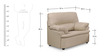 Ivy Sofa Set (3 + 1 + 1) Seater in Pale Brown Premium Leatherette by Comfort Couch