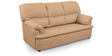 Ivy Sofa Set (3 + 1 + 1) Seater in Sand Colour Super Premium Leatherette by Comfort Couch