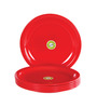 Iveo Red Round Quarter Plate - Set of Six