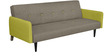 Jane Three Seater Sofa Cum Bed in Olive Colour by @home