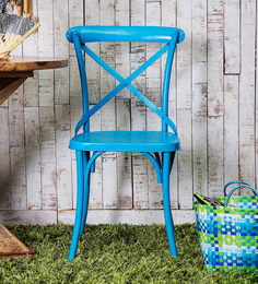 Alva Metal Chair in Blue Color by Bohemiana