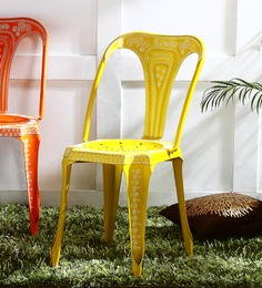 Lorado Hand Painted Metal Chair by Bohemiana