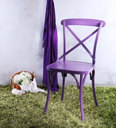 Alva Metal Chair in Aubergine Color by Bohemiana