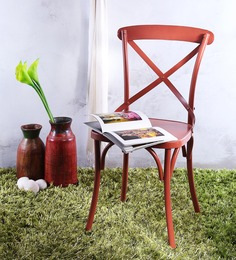 Alva Metal Chair in Rust Color by Bohemiana