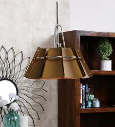 Jainsons Emporio Octagon Brown Metal Pendant Lamp