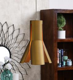 Jainsons Emporio Tetrahedron Brown Metal Pendant Lamp