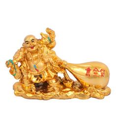 JaipurCrafts Multicolour Polyresin Laughing Buddha