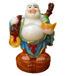 JaipurCrafts Multicolor Polyresin Laughing Buddha Showpiece