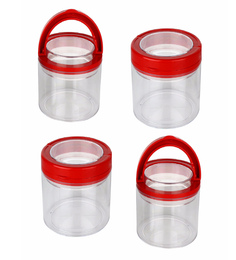 Jaypee Plus Seal It Red Round 750 ML Airtight Container - Set Of 4