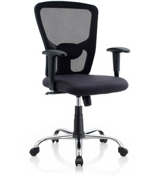 Jazz Ergonomic Chair in Black Colour by Oblique