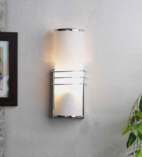 Wall Mounted Glass Lights : Jainsons Emporio White Glass Wall Mounted Light - 1495983 Best Deals With Price Comparison ...