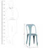 Bowen Metal Chair in Powder Blue Color by Bohemiana