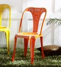 Lorado Metal Chair in Orange Color by Bohemiana