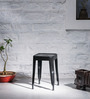 Erco Iron Stool in Black Colour by Bohemiana