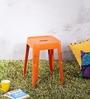 Erco Iron Stool in Orange Colour by Bohemiana