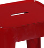 Erco Metal Bar Stool in Red Color by Bohemiana