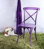 Alva Metal Chair in Aubergine Color by Bohemiana
