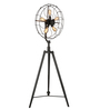 Jainsons Emporio Black Steel Vintage Fan Floor Lamp