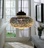 Jainsons Emporio Chrome Glass Aspar Pendant