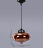 Jainsons Emporio Copper Glass Aspar Pendant
