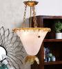 Jainsons Emporio Vimina White & Golden Metal Ceiling Light