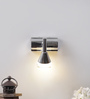 Jainsons Emporio White & Silver Aluminium & Glass Wall Mounted Light