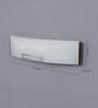 Jainsons Emporio White Aluminium & Glass Bath Light