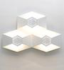 Jainsons Emporio White Metal Fold Triple LED Wall Light