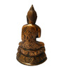 JaipurCrafts Golden Aluminum Gautam Buddha Idol Showpiece