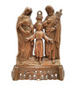 JaipurCrafts Brown Aluminum Holy Family Wall Hanging