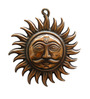 JaipurCrafts Brown Aluminium Sun Wall Hanging Showpiece