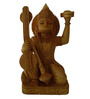 JaipurCrafts Brown Wooden Lord Hanuman with Veena Showpiece