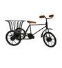 JaipurCrafts Multicolour Aluminium Cycle Rickshaw with Basket Showpiece
